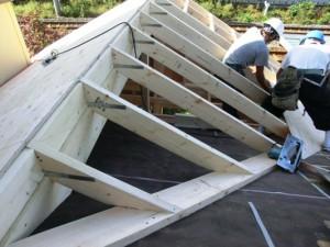 構造小屋組施工